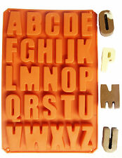 Silicone Letter Alphabet Pudding Bakeware Mould Cake Chocolate Ice Maker Mold UK