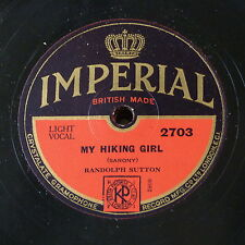 78rpm RANDOLPH SUTTON my hiking girl / round the marble arch
