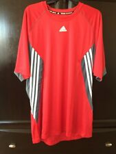 New Mens Red Adidas Team Performance  Training Top (XL)