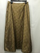 Inc Gold Silk Formal Skirt With Beading Size 12