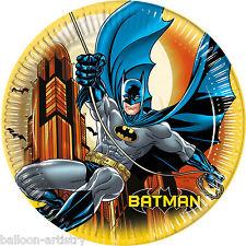 8 DC Comic BATMAN Gotham Hero Children's Party Disposable 23cm Paper Plates