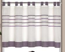 Scheibengardine Schlaufenpanneaux Bistrogardine Kurzgardine 2237 50x140 cm Lila