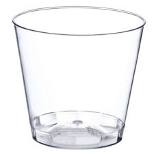 80 Small Plastic DESSERT CUPS - - - - clear nice party petite shot jelly glasses