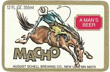 Macho Beer Label