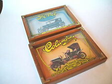 Vintage CARS Wallace Berrie 3D Wood Frame Art Plaque COLIMBIA AND FORD 1925
