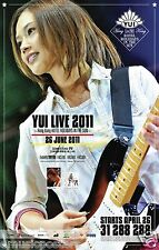 "YUI ""LIVE 2011 HONG KONG HOTEL HOLIDAYS IN THE SUN"" CONCERT TOUR POSTER-Pop,Rock"