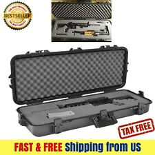 Gun Case Storage Waterproof Safety Lockable Hard Shell AR 15 Rifle Firearm Scope