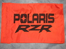Custom POLARIS RZR RECTANGLE Safety Flag 4 ATV UTV JEEP Dirtbike Dune Whip Pole