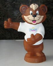 VINTAGE ZEDDY BEAR PIGGY BANK ZELLERS CLOSED STORE ADVERTISING BANK