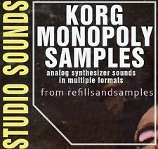 Korg Monopoly SAMPLE Akai Akp Reason Refill Analog SYNTH SOUNDS Wav Soundfont CD