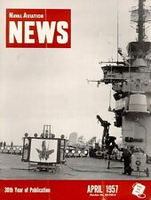 NAVAL AVIATION NEWS APR 1957 USN CVA / HUL HUP HRS / ATU / REGULUS II MISSILE