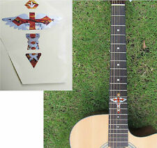 Guitar Inlay Stickers Cross & Wing Pattern Decals