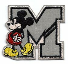 Mickey Mouse Letter M Embroidered iron on PATCHES/Appliques