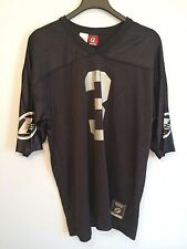 REEBOK ALLEN IVERSON FOOTBALL JERSEY MENS 2XL XXL BLACK SILVER OAKLAND RAIDERS