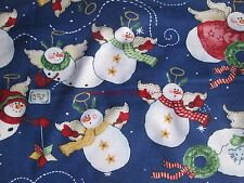 Snowman Snow Angel Christmas Glory Craft Quilt Fabric Daisy Kingdom by yard f904