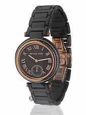BRAND NEW WOMENS MICHAEL KORS (MK6242) MINI SKYLAR BLACK CERAMIC STRAP WATCH
