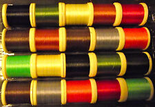 10 -100yd SPOOLS MIXED 8/0 FLY TYING THREAD. Many Great comments.