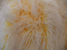 YELLOW FAUX FUR  ULTRA MONGOLIAN 2 TONE  64'' INCHES WIDE FABRIC BY THE YARD