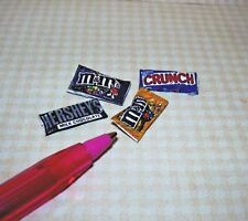 Miniature DollysGallery Assorted Chocolate Candy Bars:DOLLHOUSE Miniatures:1/12