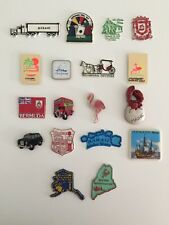Lot of 18 Vintage Travel Magnets Rubber Tourist States Lobster Flamingo Souvenir