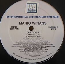 "MARIO WINANS ~ Dont Know ~ 12"" Single USA PRESS PROMO"