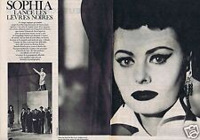 Coupure de presse Clipping 1962 Sophia Loren   (2 pages)