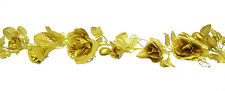 GOLD Rose Garland ~ Silk Wedding Flowers ~ Arch Gazebo Decor ~ 50th Anniversary