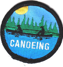 """""""CANOEING""""- Iron On Embroidered Applique Patch-Water Sports, Canoe,Rowing"""