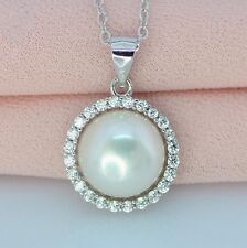 Genuine Cultured Freshwater Pearl Necklace S925 Real pearl 10-11mm Necklace