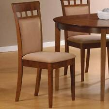 Walnut Finish Upholstered Back Dining Side Chairs by Coaster 101773 - Set of 2