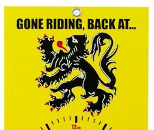 New Gone Riding Clock Face Lion Of Flanders yellow Free P&P