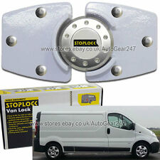 White Stoplock Vauxhall Opel Vivaro High Security Anti Theft Van Door Lock