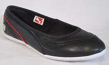 Womens Puma La Ballerina Black leather FERRARI slip on shoes flats size uk 3.5