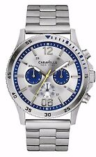 Caravelle New York Men's 43A130 Chronograph Silver Tone Stainless Steel Watch