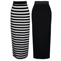 Womens Ladies Jersey Maxi Skirt
