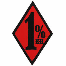1%ER Red One Percenter Slogan Funny Biker Outlaw Motorcycles Iron-On Patch #B113