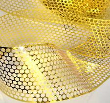 Sequin waste (Punchinella) - 1 mètre d'or cercles design - 83mm largeur