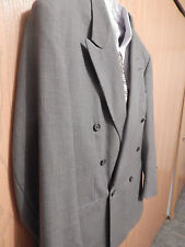 VTG Givenchy Monsieur Double Breasted Blazer Mens Size 46R Gray Geometric USA