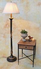 Stehlampe Lampe Stehleuchte Stoffschirm klassisch antik Look edel PQ014-a