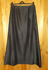MICHELLE V LIM black taffeta silk-look evening party skirt 12-14 Sani-Sani Stone