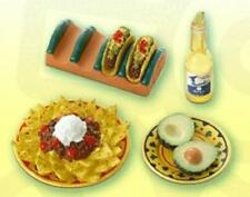 Re-ment miniature fun meals mexican dinner nachos taco holder lime beer avocado