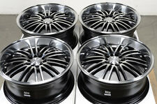 18 5x114.3 5x100 Black Wheels Fits Accord Subaru Legacy Impreza Scion XB TC Rims