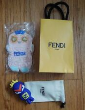 FENDI Authentic Bag Bug Monster Charm Key Chain Gift Bag w/ Cookie