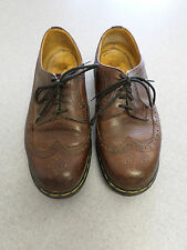 "Dr. ""Doc"" Martens 3989/59 dark brown wingtips. Men's 12 (uk 11) made in England"