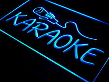 i444-b Karaoke NEW Lounge Box Club Logo Neon 3D Led Pub Bar Beer Light Sign