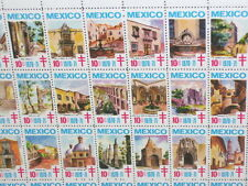 CHRISTMAS SEALS MEXICO 1970 - 71 MEXICAN BUILDINGS