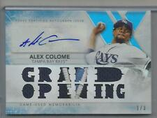 2015 Topps Triple Threads Baseball Alex Colome Autograph Patch Card # 1/3