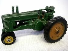 Vintage ERTL? John Deere Model A tractor ?  W/Driver Missing Head. 1940's!!