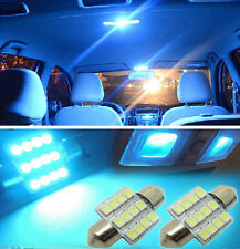 "2pcs Aqua Blue 1.25"" 31mm 12-SMD  DE3175 DE3022 LED Bulbs Car Interior light EA8"