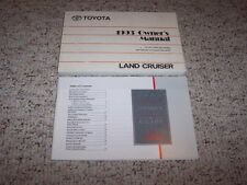 1993 Toyota Land Cruiser 4x4 Owners Owner's User Manual Book Set 4.5L RARE!